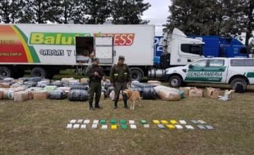 Gendarmería secuestró 31 kilos de cocaína en la Terminal