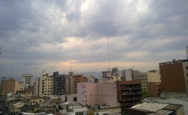 Con nubes pero sin lluvias la temperatura hoy alcanzaría los 25°C