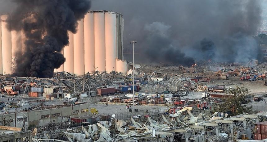 Una fuerte explosión sacude la capital del Líbano